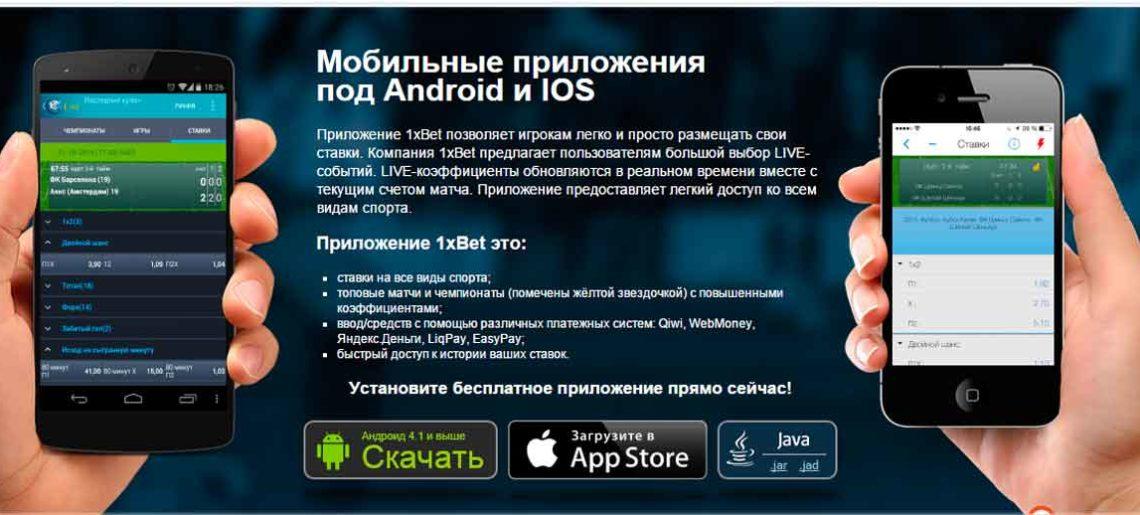 Мобильная версия официального веб-ресурса бренда 1xBet